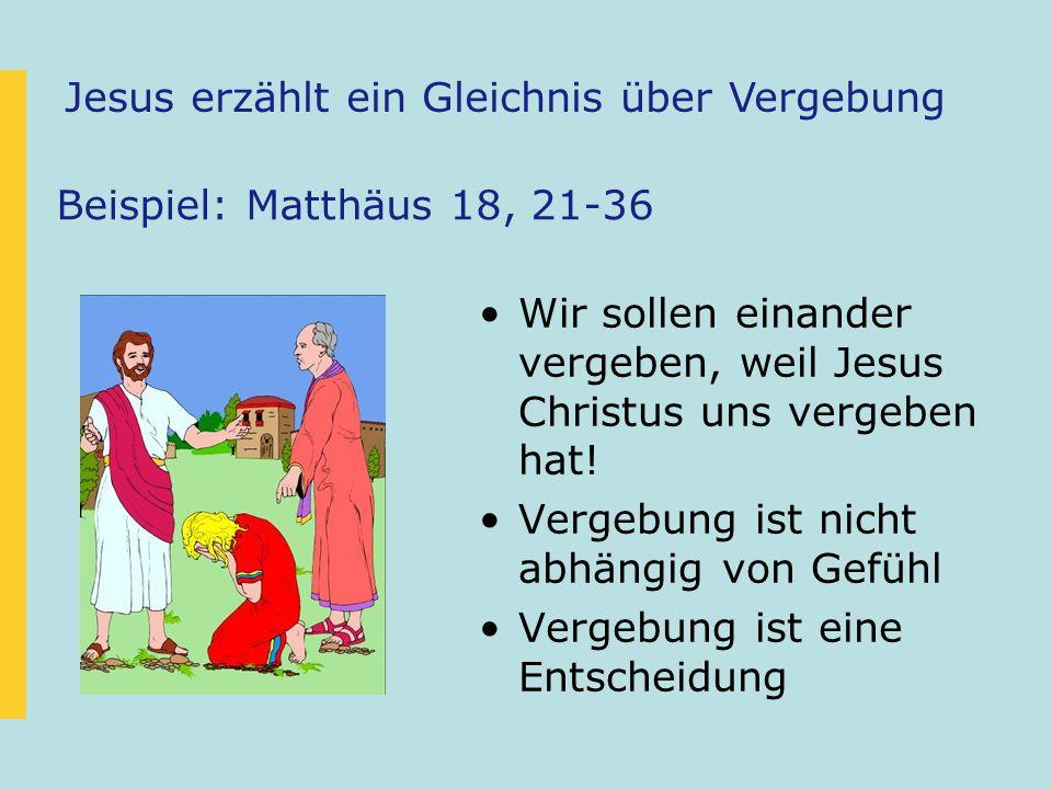 Jesus erzählt ein Gleichnis über Vergebung