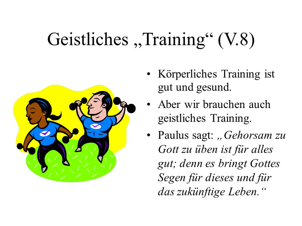 "Geistliches ""Training (V.8)"