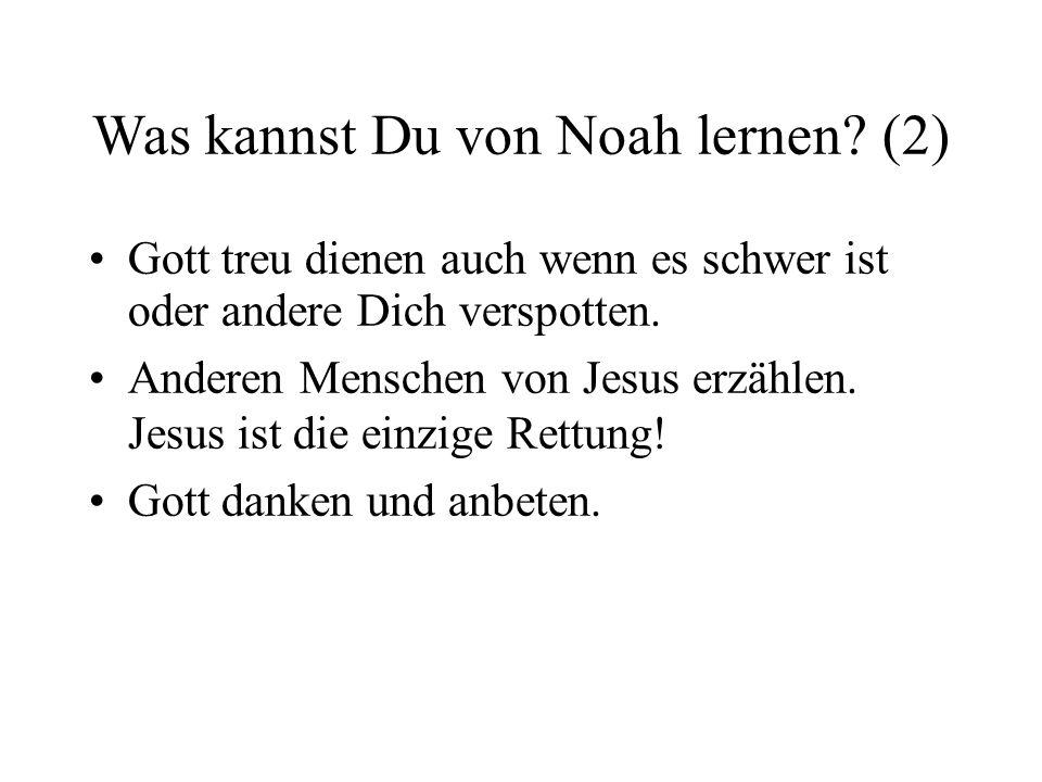 Was kannst Du von Noah lernen (2)