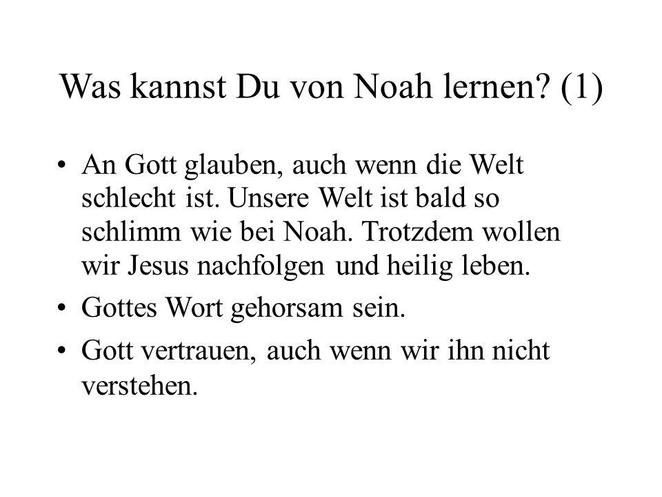 Was kannst Du von Noah lernen (1)