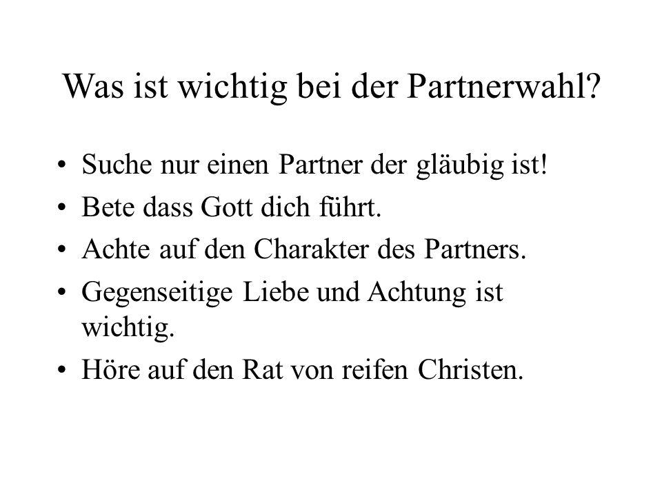 Was ist wichtig bei der Partnerwahl
