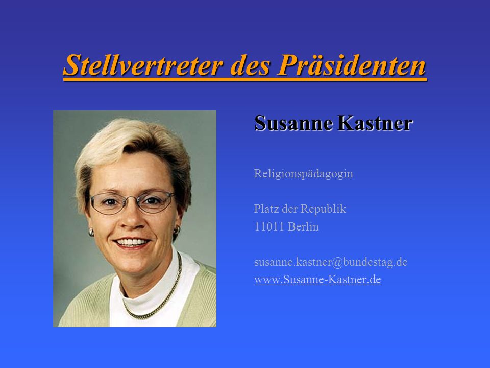 Stellvertreter des Präsidenten