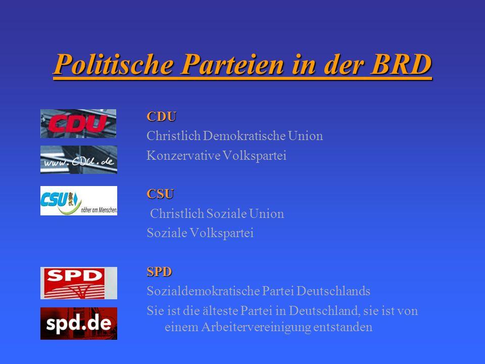 Politische Parteien in der BRD