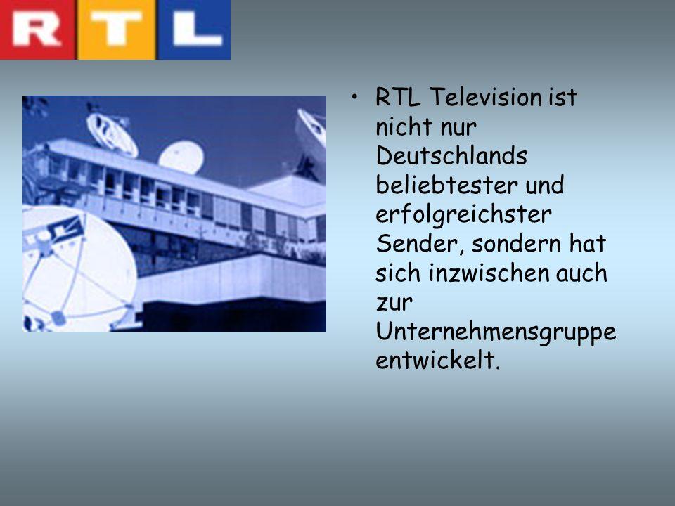 RTL Television ist nicht nur Deutschlands beliebtester und erfolgreichster Sender, sondern hat sich inzwischen auch zur Unternehmensgruppe entwickelt.