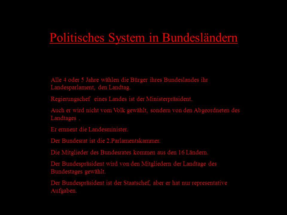 Politisches System in Bundesländern