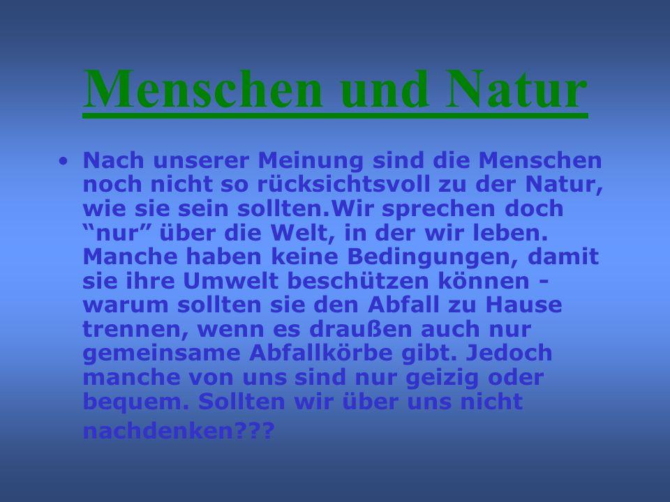 Menschen und Natur