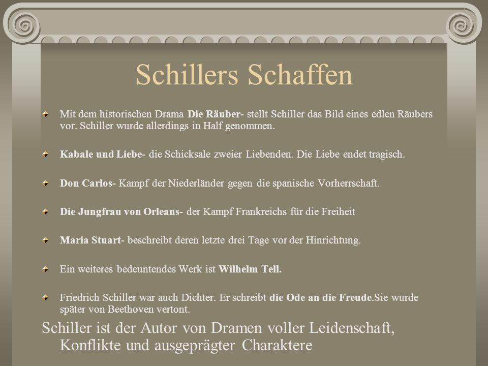 Schillers Schaffen