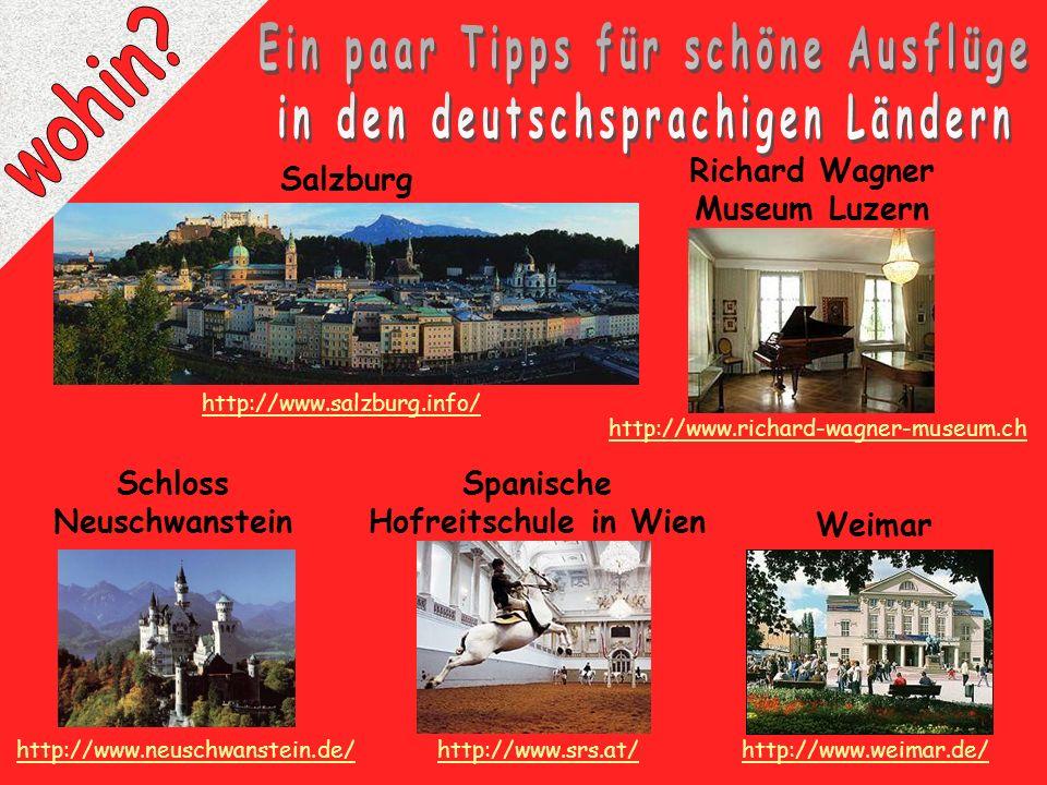 Ein paar Tipps für schöne Ausflüge in den deutschsprachigen Ländern