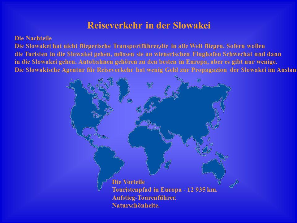 Reiseverkehr in der Slowakei