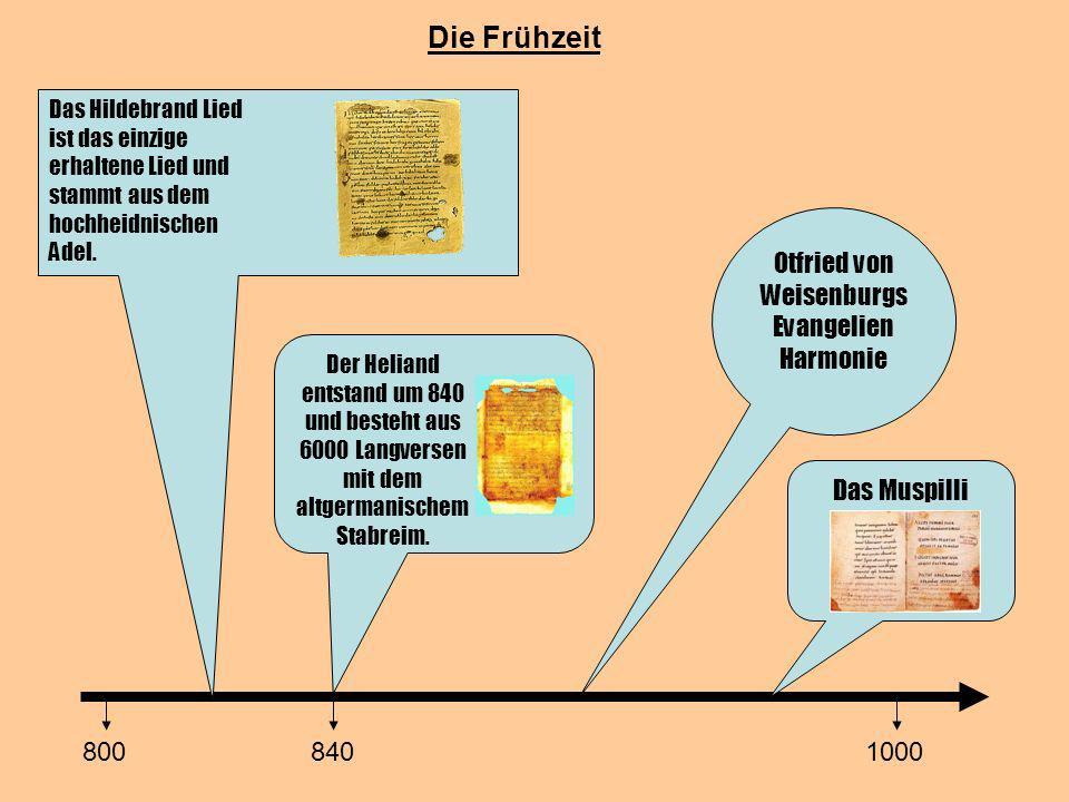Otfried von Weisenburgs Evangelien Harmonie