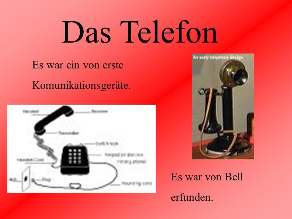 Das Telefon Es war ein von erste Komunikationsgeräte. Es war von Bell