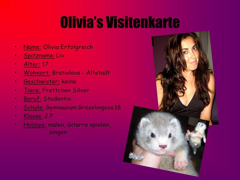 Olivia's Visitenkarte