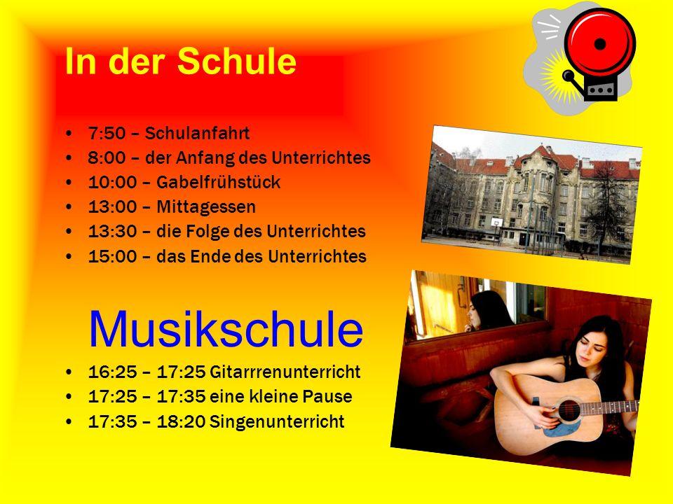Musikschule In der Schule 7:50 – Schulanfahrt