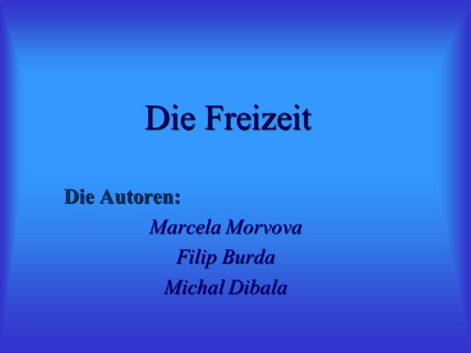 Die Autoren: Marcela Morvova Filip Burda Michal Dibala