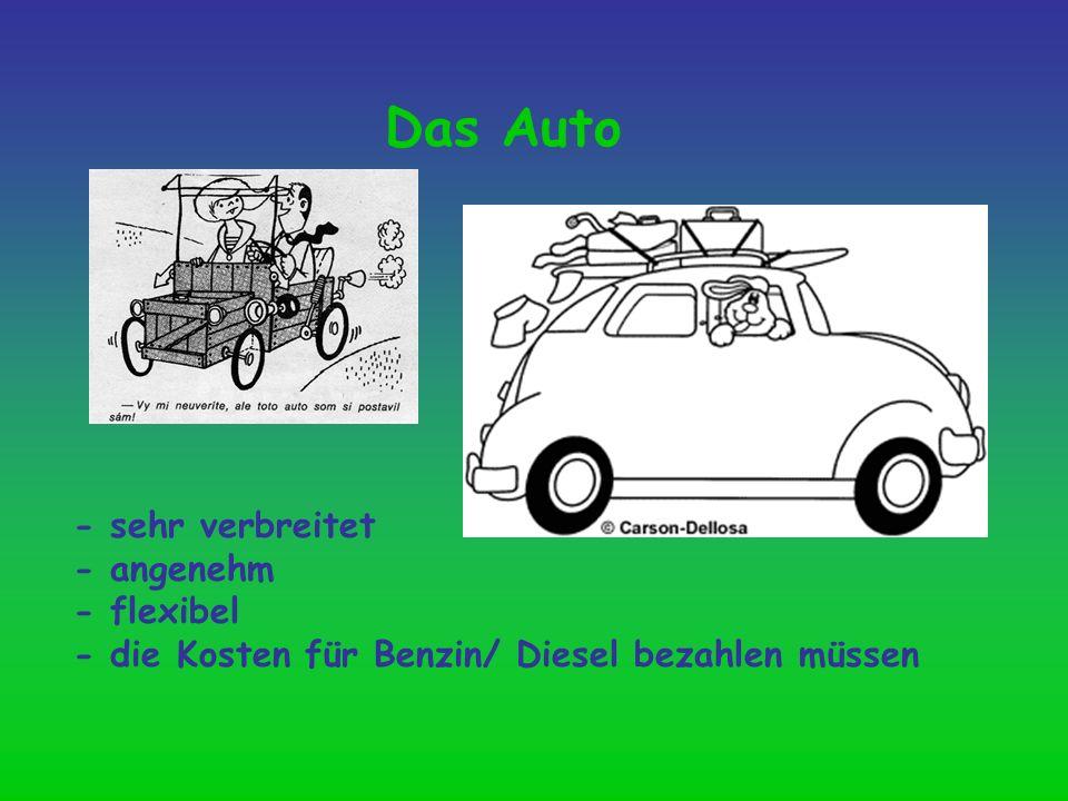 Das Auto - sehr verbreitet - angenehm - flexibel