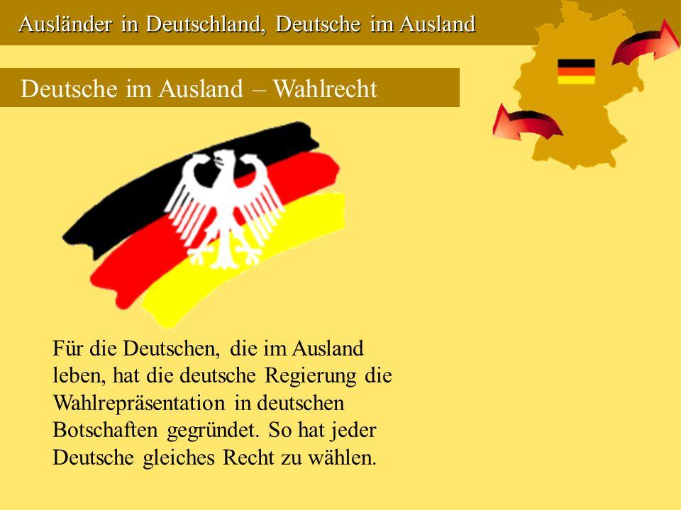 Deutsche im Ausland – Wahlrecht