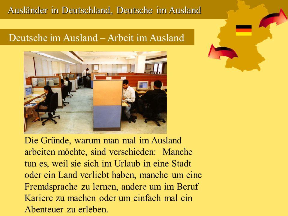 Deutsche im Ausland – Arbeit im Ausland