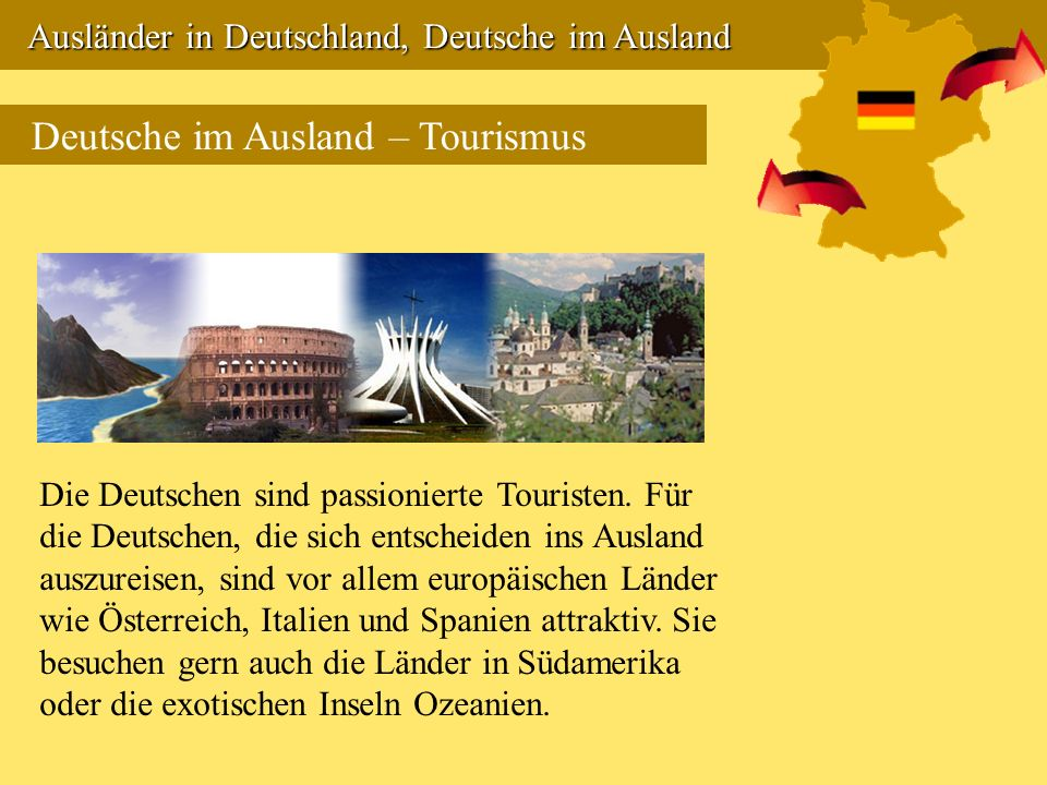 Deutsche im Ausland – Tourismus