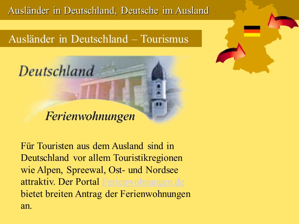 Ausländer in Deutschland – Tourismus