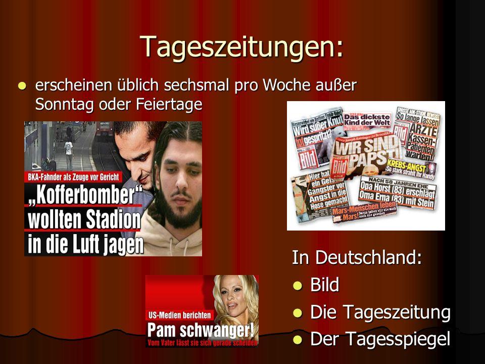 Tageszeitungen: In Deutschland: Bild Die Tageszeitung Der Tagesspiegel