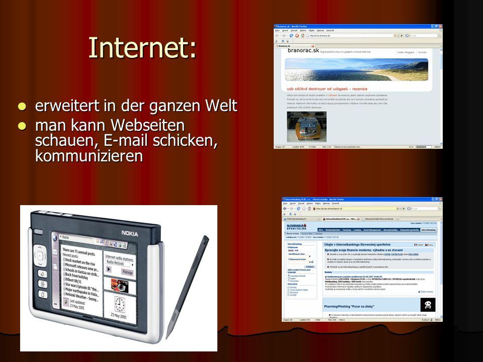 Internet: erweitert in der ganzen Welt