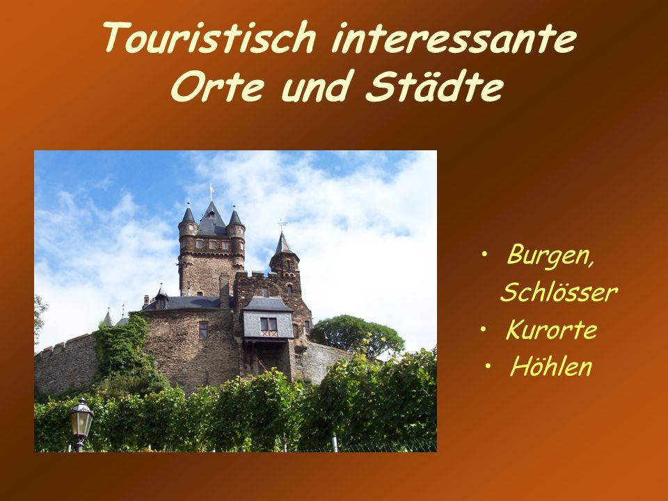 Touristisch interessante Orte und Städte