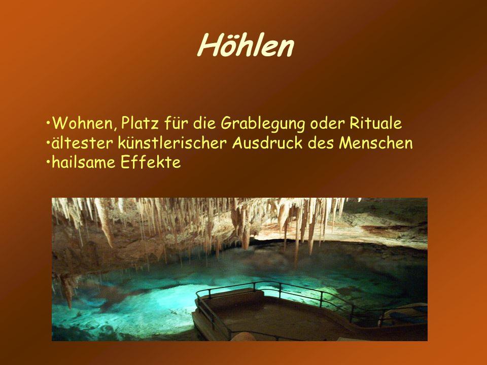 Höhlen Wohnen, Platz für die Grablegung oder Rituale