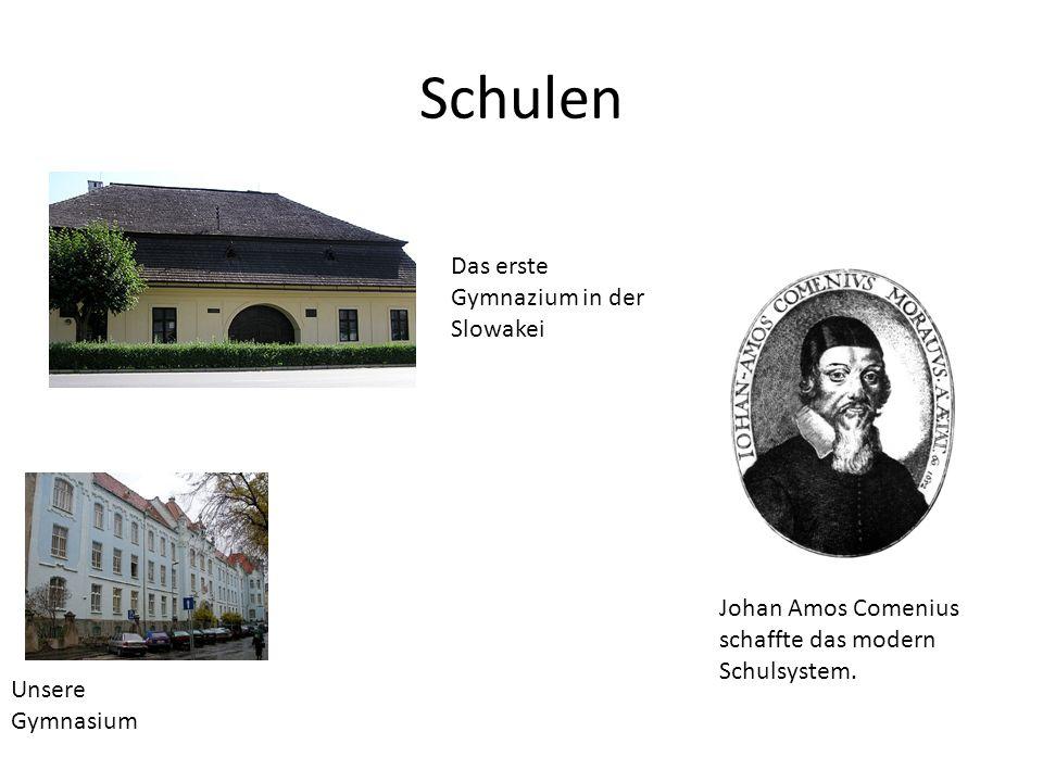 Schulen Das erste Gymnazium in der Slowakei