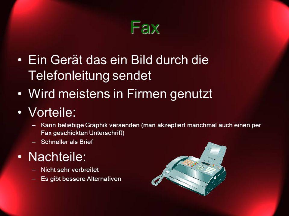 Fax Ein Gerät das ein Bild durch die Telefonleitung sendet