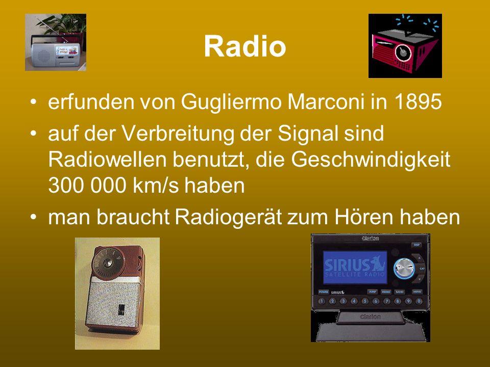 Radio erfunden von Gugliermo Marconi in 1895
