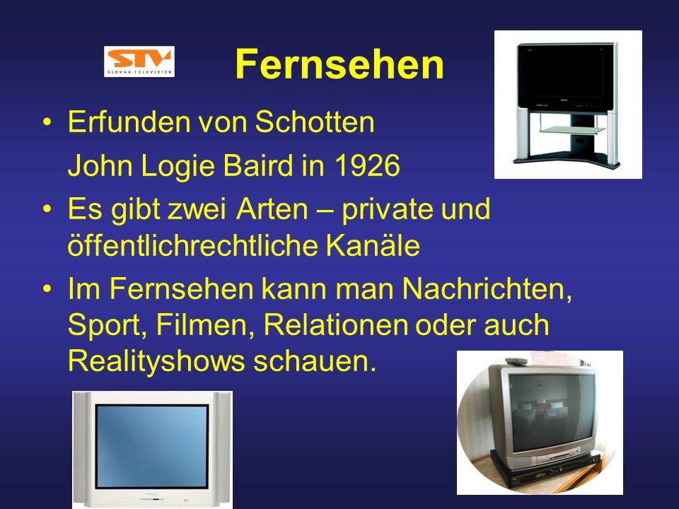 Fernsehen Erfunden von Schotten John Logie Baird in 1926