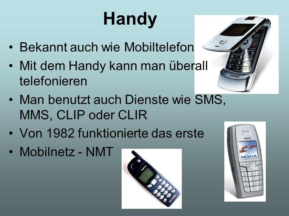 Handy Bekannt auch wie Mobiltelefon
