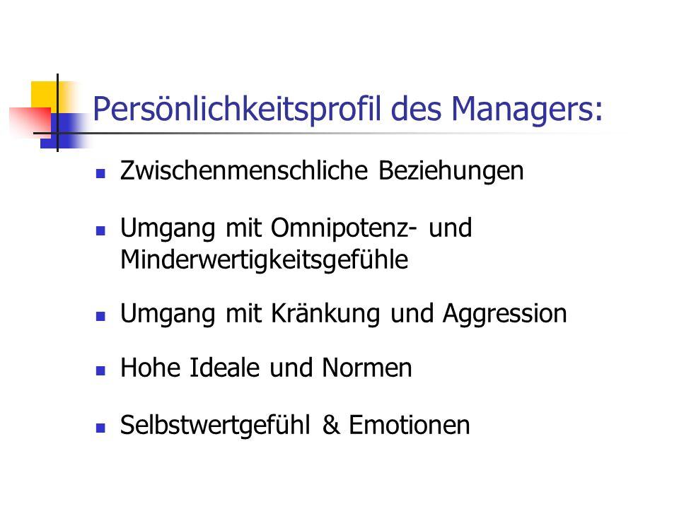 Persönlichkeitsprofil des Managers: