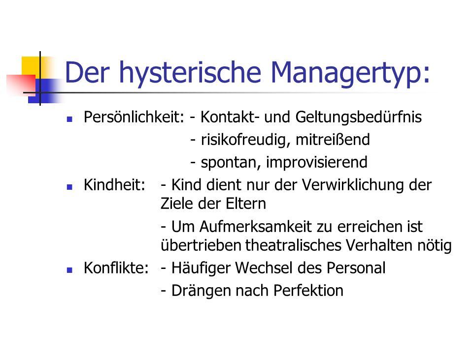 Der hysterische Managertyp: