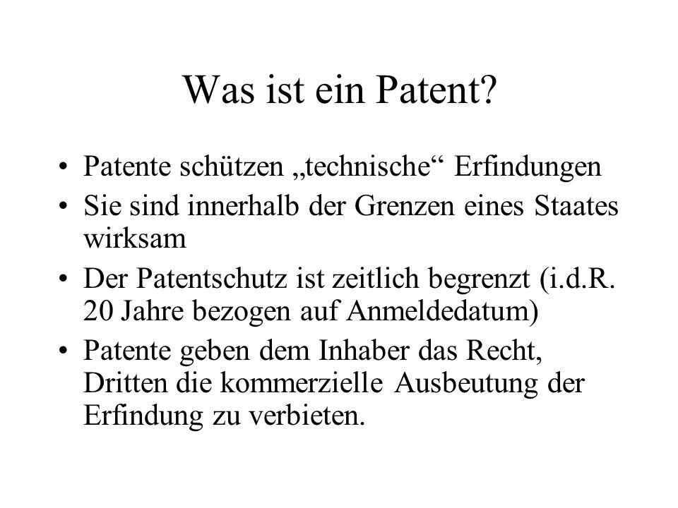 """Was ist ein Patent Patente schützen """"technische Erfindungen"""