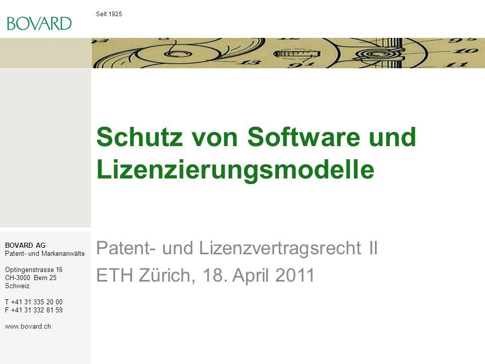 Schutz von Software und Lizenzierungsmodelle