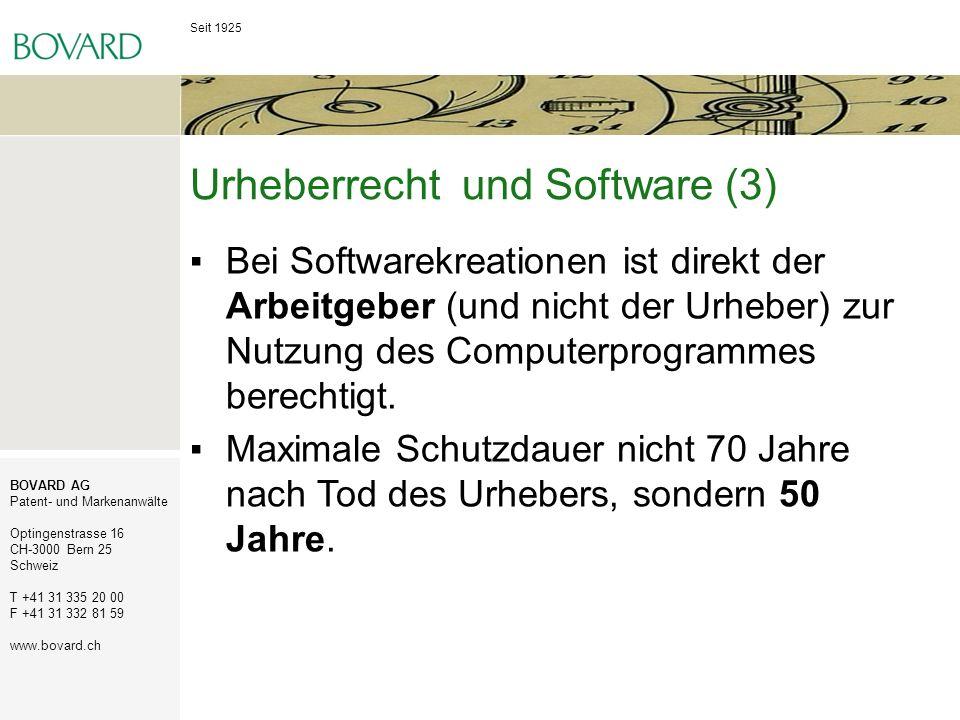 Urheberrecht und Software (3)
