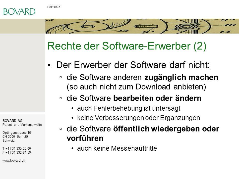 Rechte der Software-Erwerber (2)
