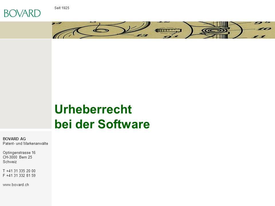 Urheberrecht bei der Software