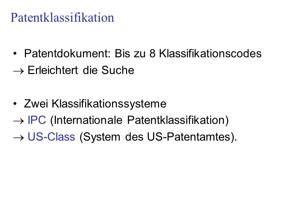 Patentklassifikation