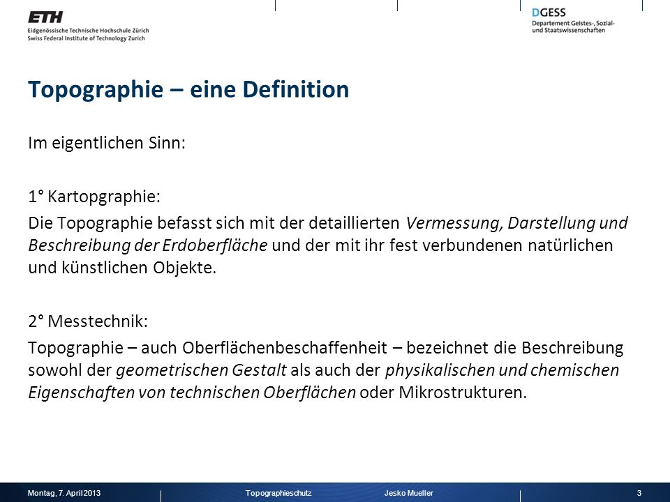 Topographie – eine Definition