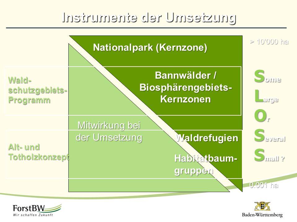 Instrumente der Umsetzung