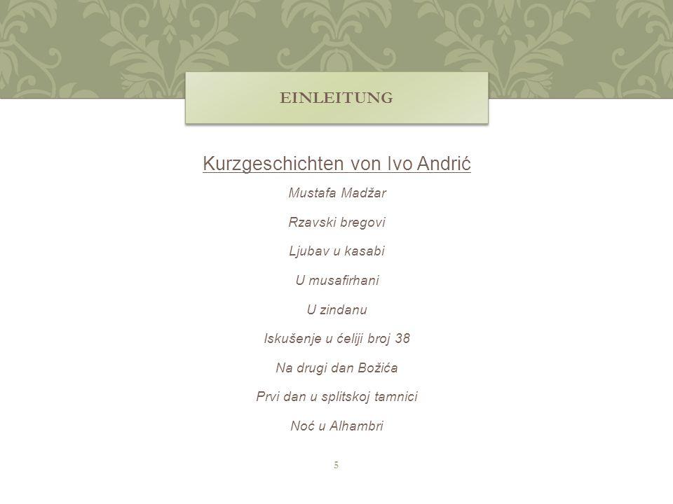 Kurzgeschichten von Ivo Andrić
