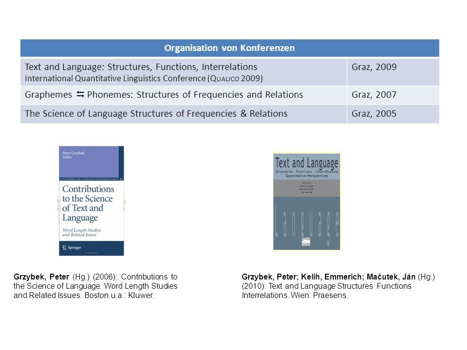 Organisation von Konferenzen