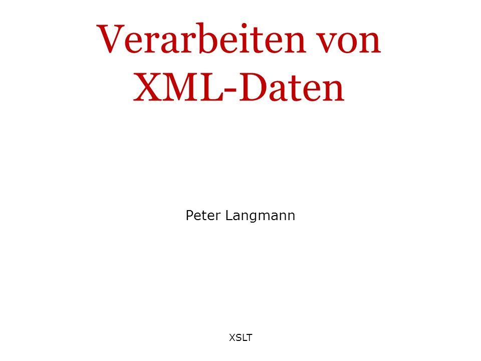 Verarbeiten von XML-Daten