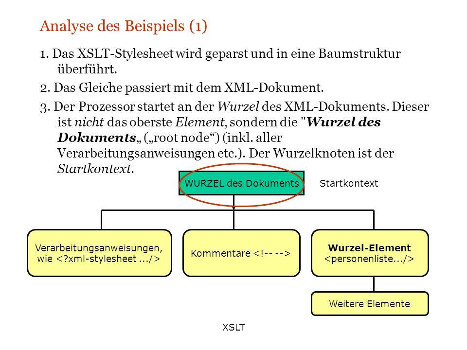 Analyse des Beispiels (1)