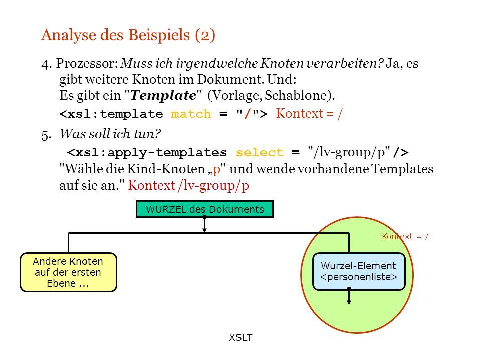 Analyse des Beispiels (2)