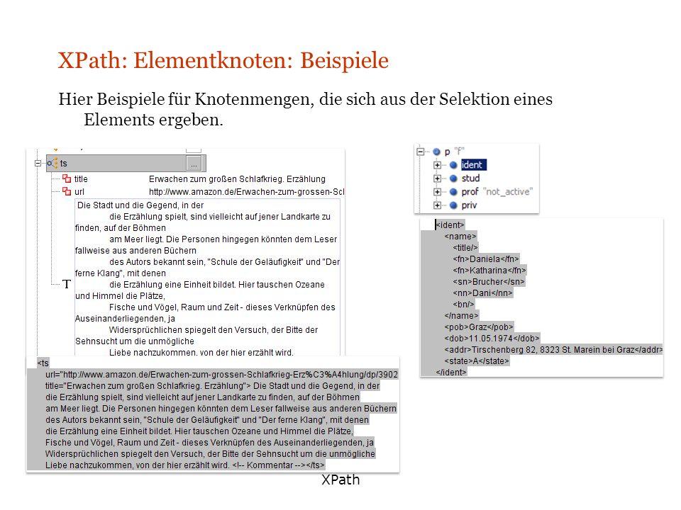 XPath: Elementknoten: Beispiele