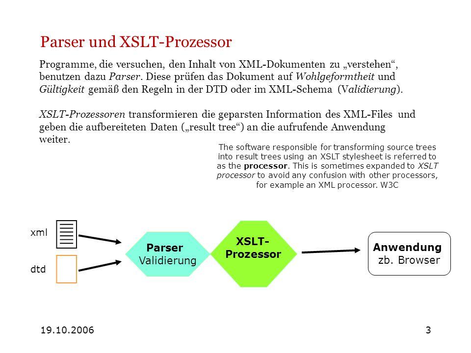 Parser und XSLT-Prozessor
