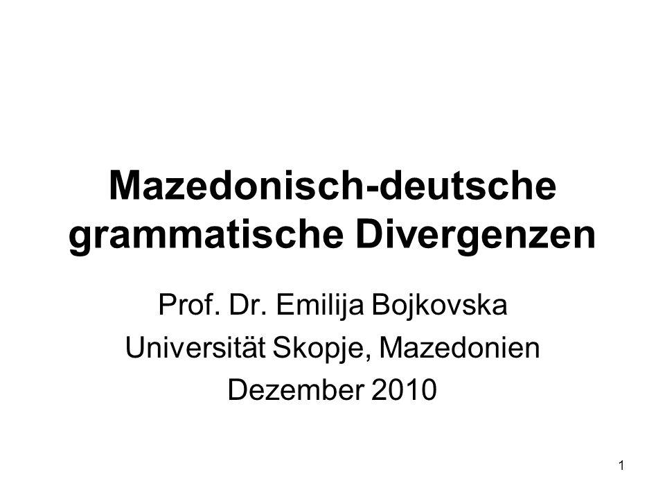Mazedonisch-deutsche grammatische Divergenzen